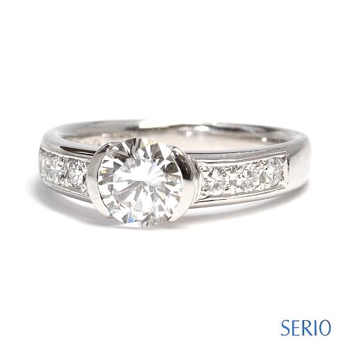 リフォーム・1ct大粒ダイヤ・指輪